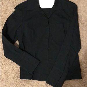 Talbots black button up dress shirt